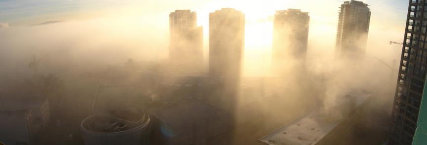 Foggy Vancouver - Copyright © http://heatherbutton.com